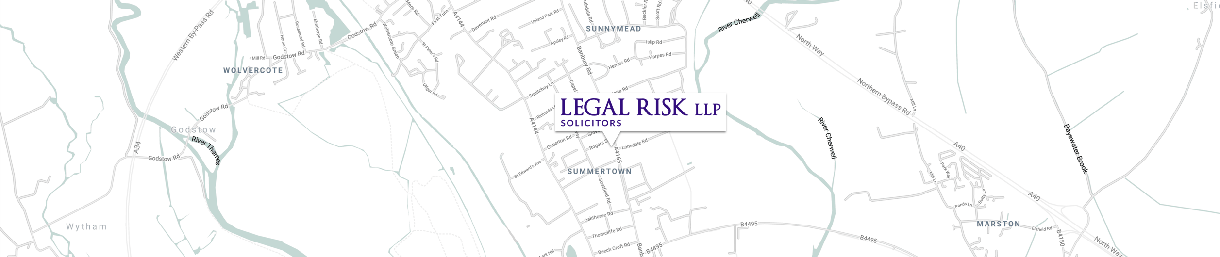 Map of location of Legal Risk in Oxford
